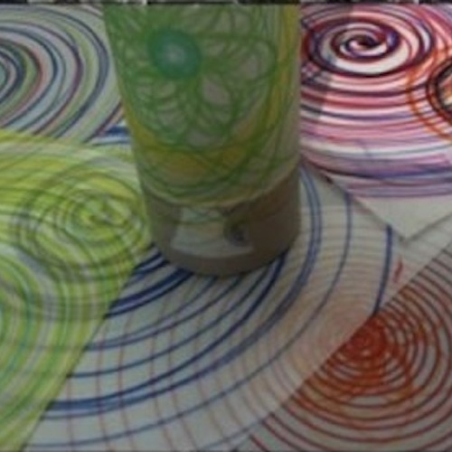 image from the workshop showing the designs made to make the mood lamps
