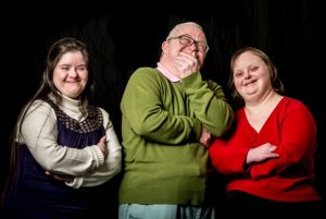 wicked fish actors laughing The actors are from left to right: Nicola Brooks, Neil Bramwell and Jane Fradley.